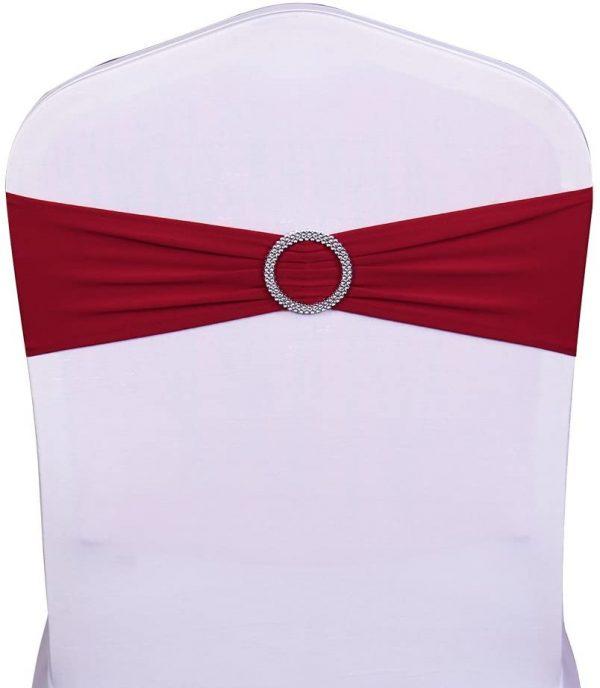 Bandeau de chaise Noeud de chaise Rouge location grenoble