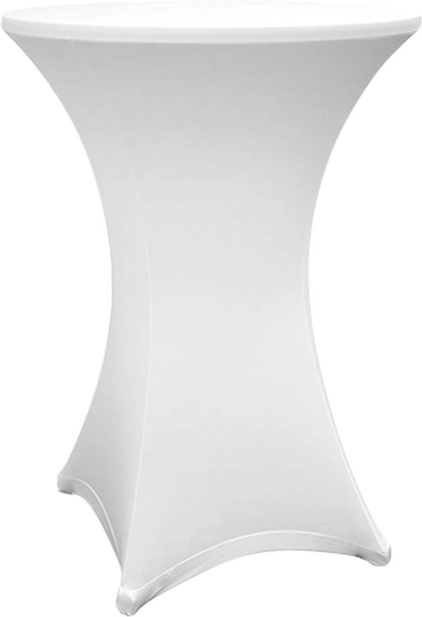 Housse Blanc pour Mange Debout 60 - 65 x 110 cm location grenoble