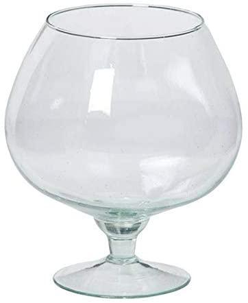 Vase Verre Cognac Transparent 30x18cm location grenoble