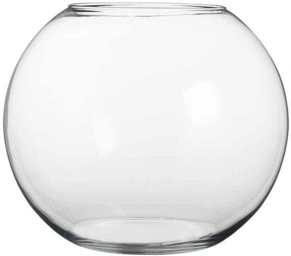 Vase Bulle Transparent Diamètre 13cm location grenoble
